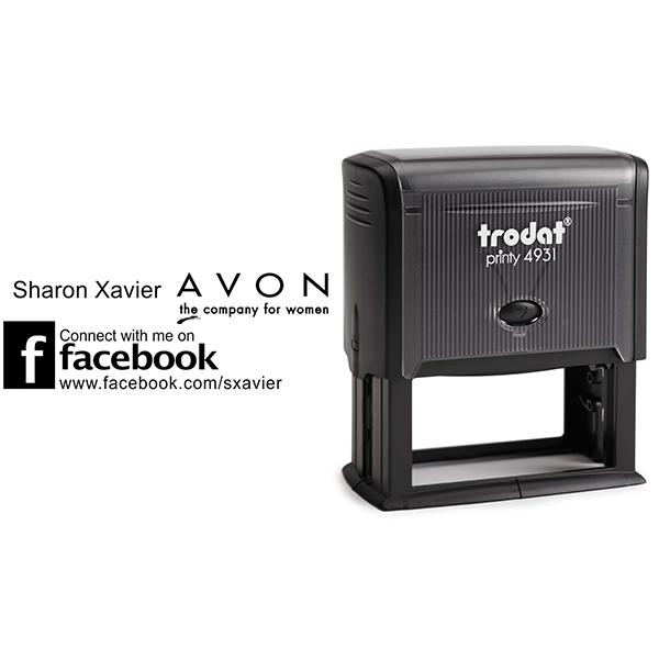 Custom Avon Consultant Stamp Style 11 Body and Design