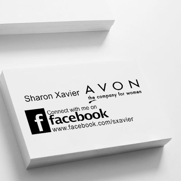Custom Avon Consultant Stamp Style 11 Imprint Example