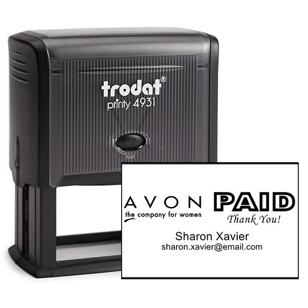 Custom Avon Consultant Stamp Style 12