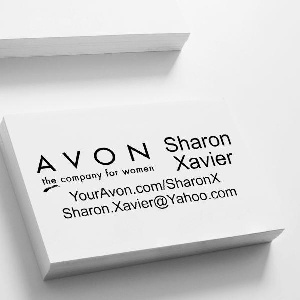 Avon Catalog Stamp Style 2 Imprint Example
