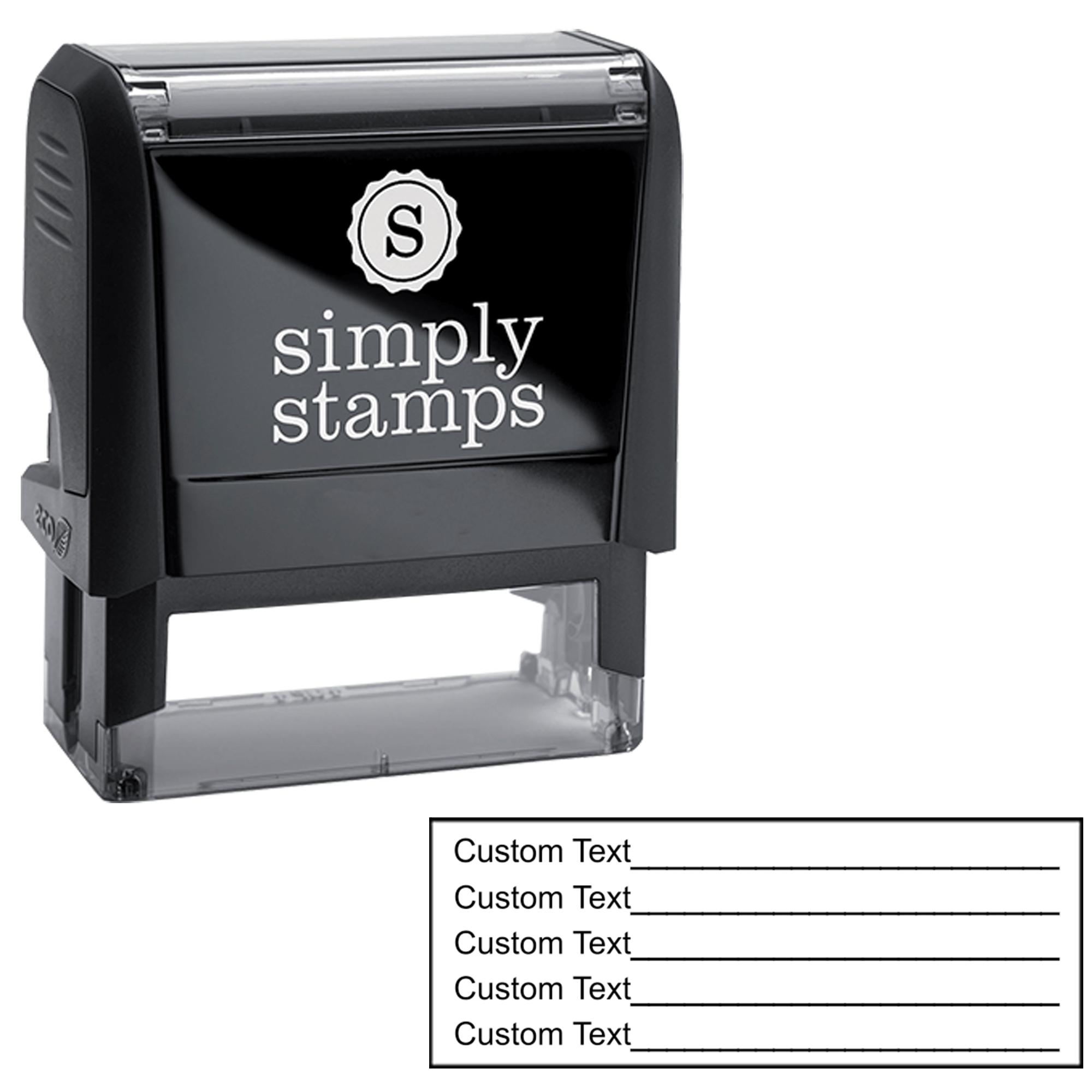 5 Line Form Custom Rubber Stamp