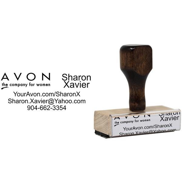Avon Logo Catalog Stamp Body and Design