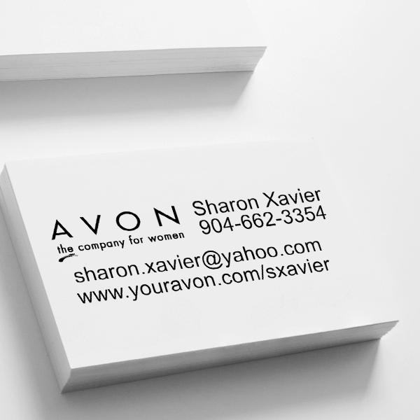 Avon Catalog Stamp Style 9 Imprint Example