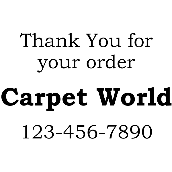 Thank You For Your Order Rubber Stamper
