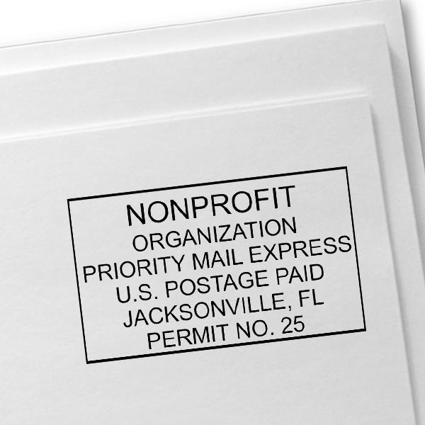 Non-Profit Organization Postage Permit Stamp  Imprint Example