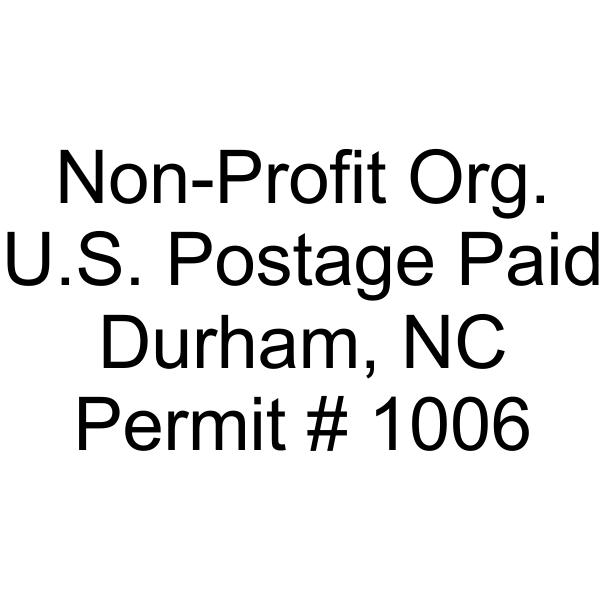 Non-Profit Org Postage Paid Permit Stamp Imprint Example