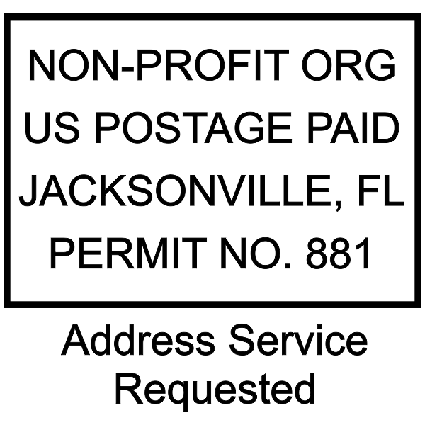 Non-Profit Postage Paid Stamp | Address Service Request Imprint Example