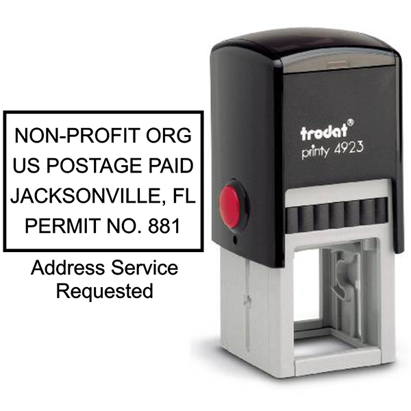 Non-Profit Postage Paid Stamp | Address Service Request Body and Design