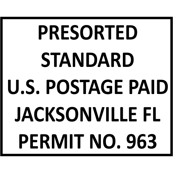 Postage Paid Permit | Presorted Standard Imprint Example