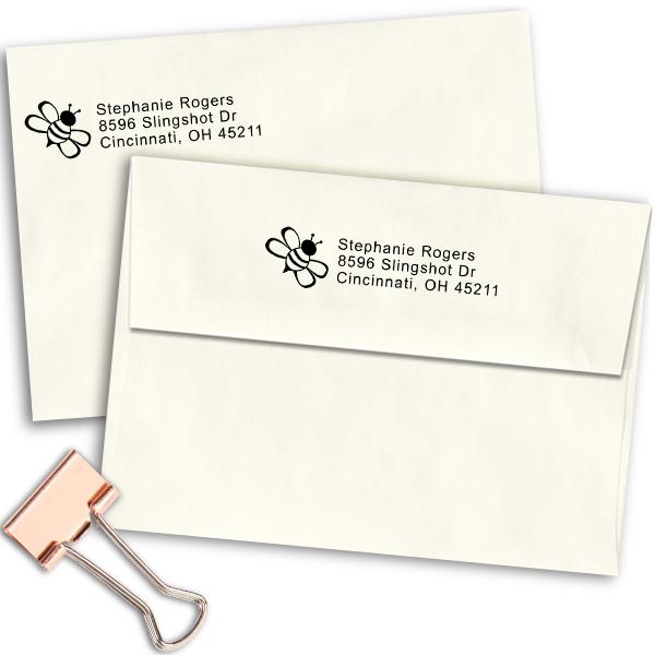 Bumble Bee Address Stamp Imprint Example