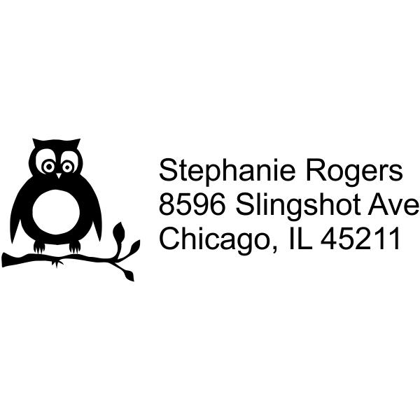 Owl Branch address rubber stamp