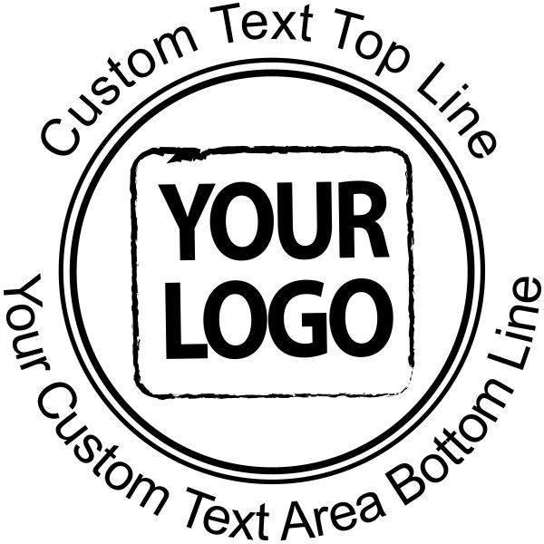 Personalized Logo Custom Round Catalog Stamp
