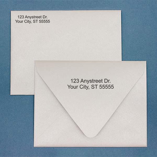 2 Line Stamp Imprint Example on Envelopes