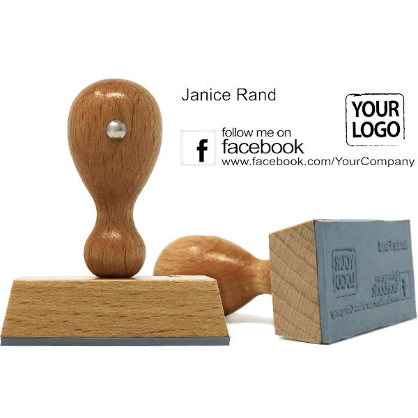 Follow Me on Facebook Logo Stamp w/ Catalog Ink