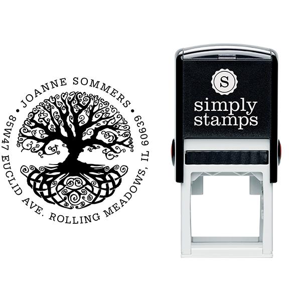 Tree of Life Return Address Stamp Body and Design