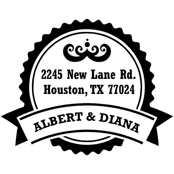 Vintage rubber address stamp