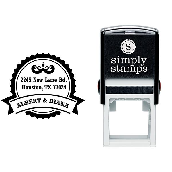 Diana Round Return Address Stamp Body and Design