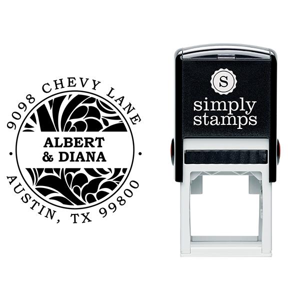 Albert Round Return Address Stamp Body and Design