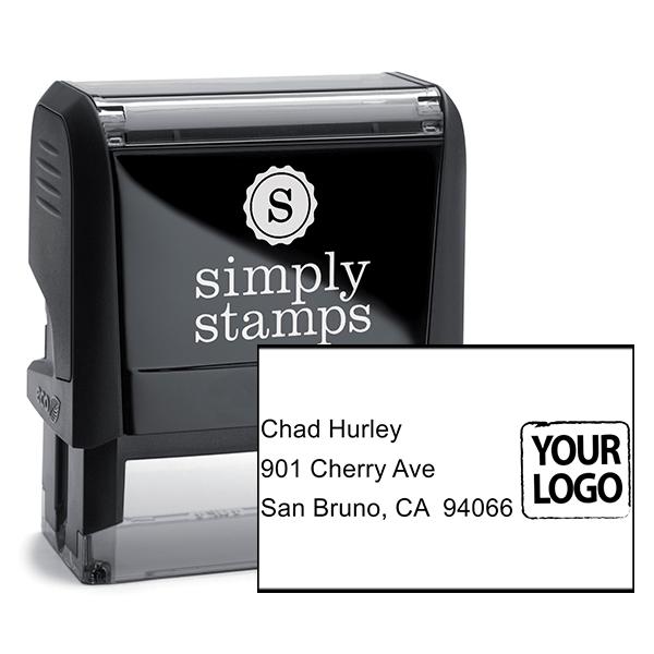 Custom Logo Address Stamp