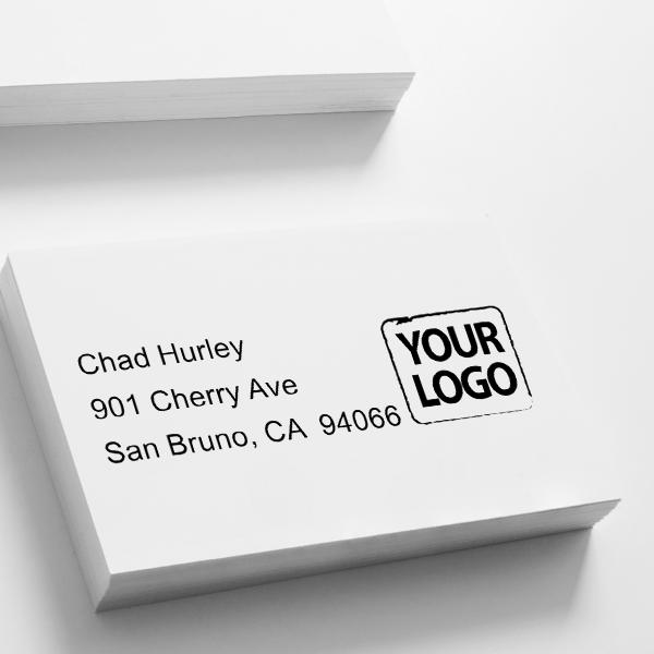 Custom Logo Address Stamp Imprint Example
