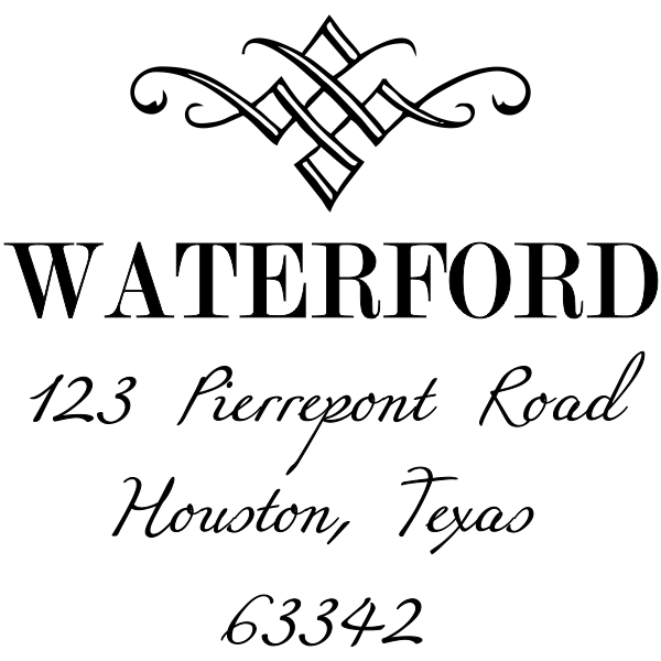 diamond address stamp