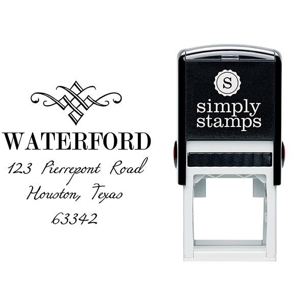 Waterford Diamond Address Stamp Body and Design