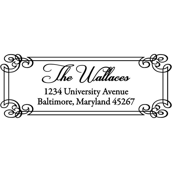 Rectangle address stamp design