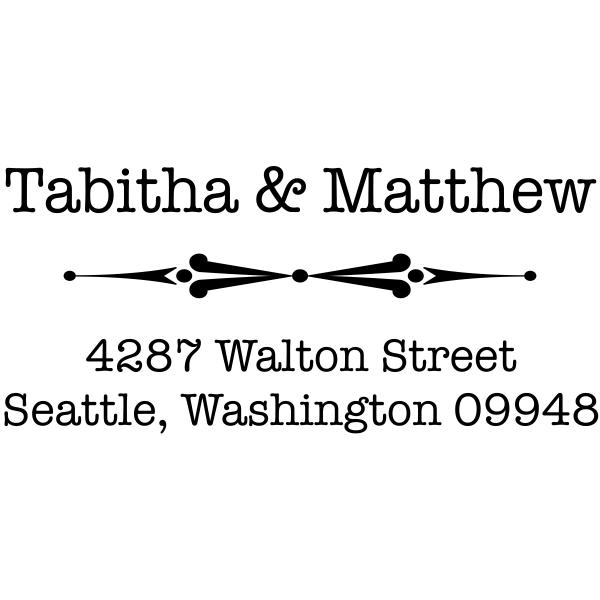 Fancy First Name Return Address Stamp