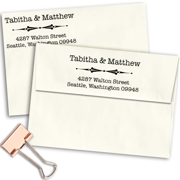 Walton Point Line Address Stamp Imprint Example