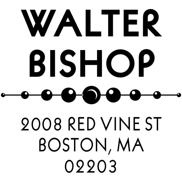 custom square rubber address stamp design