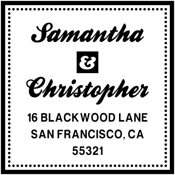 Blackwood Square Custom Address Stamp