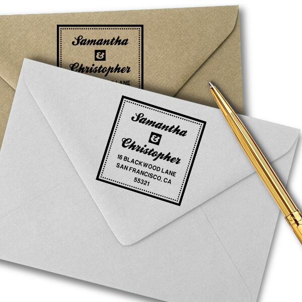 Blackwood Square Address Stamp Imprint Example