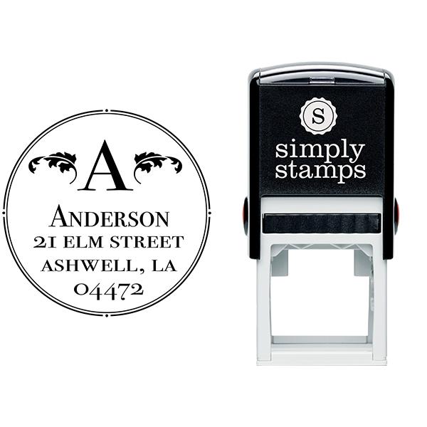 Ashwell Round Address Stamp Body and Design