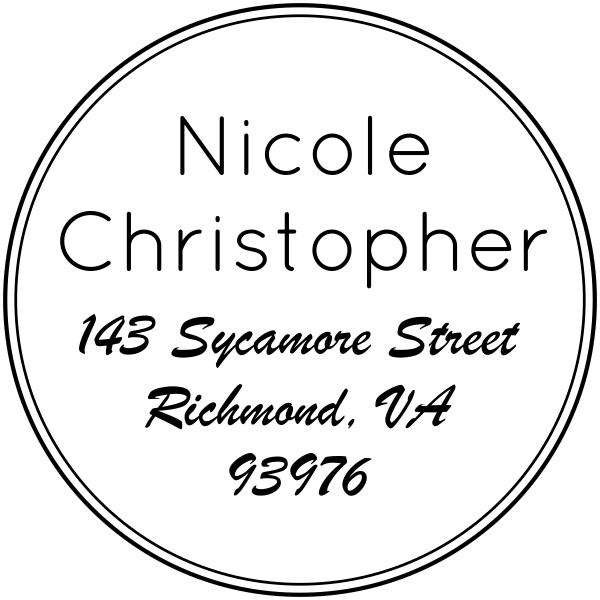 custom round family address stamp