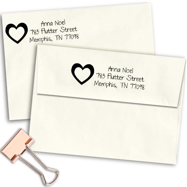 Noel Heart Address Stamp