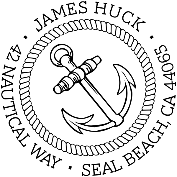 ocean anchor rubber stamp