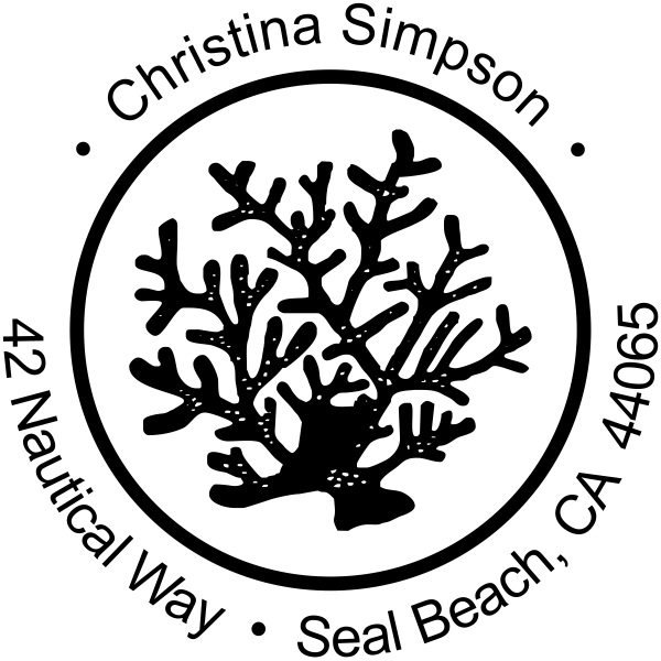 Coral Reef Address Stamper