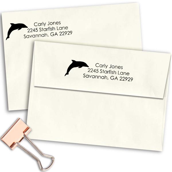 Jones Dolphin Address Stamp Imprint Example