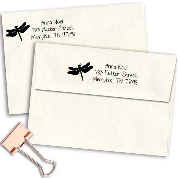 Flutter Dragonfly Address Stamp Imprint Example