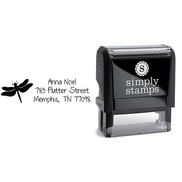 Flutter Dragonfly Address Stamp Body and Design