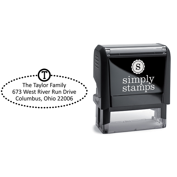 Taylor Oval Address Stamp Body and Design
