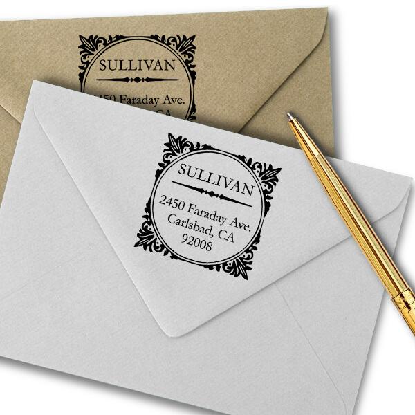 Sullivan Square Address Stamp Imprint Example