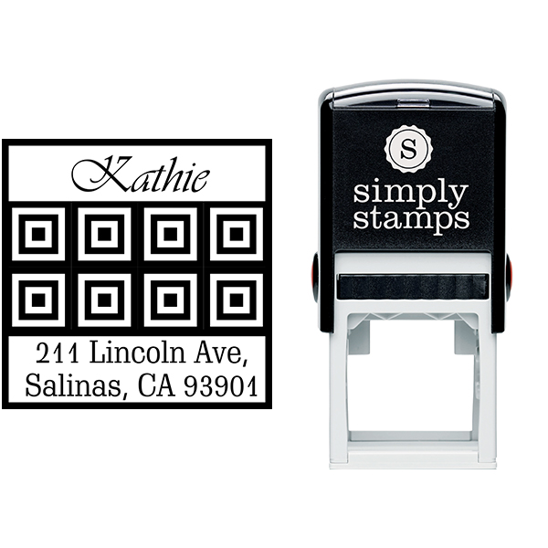 Lincoln Tile Square Address Stamp Body and Design