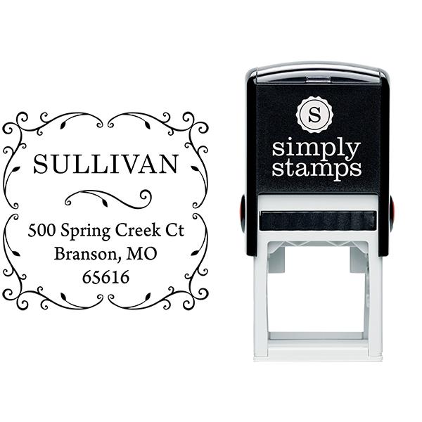 Sullivan Vine Address Stamp Body and Design