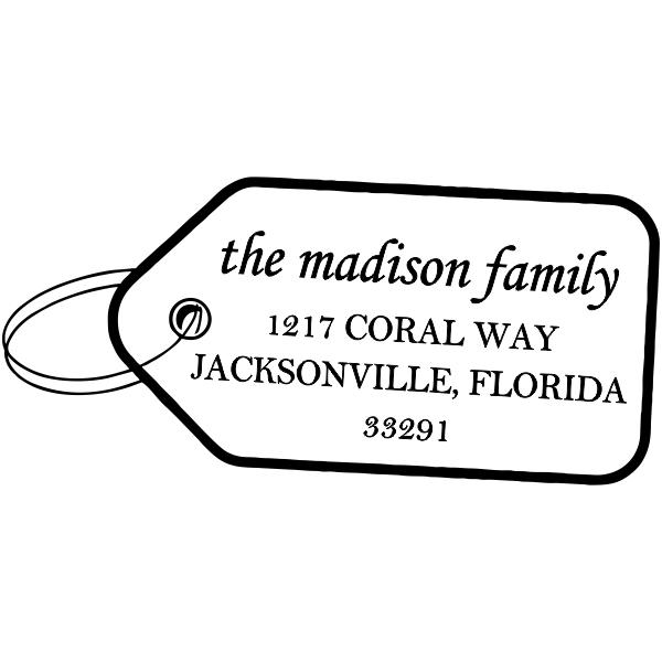 Holiday Gift Tag return address stamper