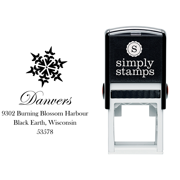 Danvers Snowflake Address Stamp Body and Design