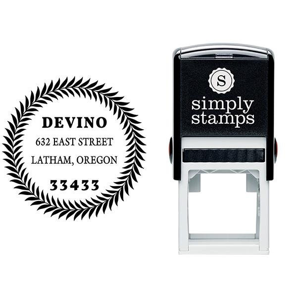 Devino Fern Round Address Stamp Body and Design