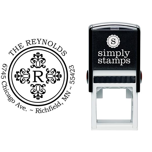 Reynolds Deco Round Address Stamp Body and Design