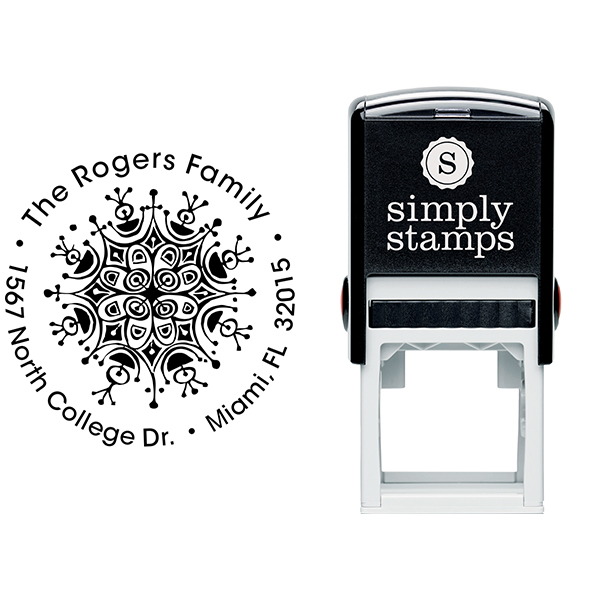 Rogers Ornament Round Address Stamp Body and Design