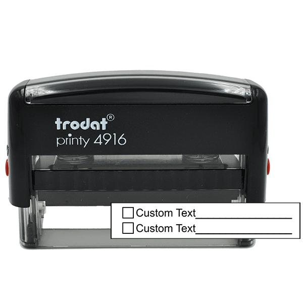 2 Line Box Form Custom Rubber Stamp